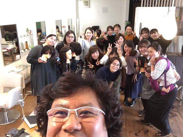 アツコグループ カット講習 2019年3月 集合写真
